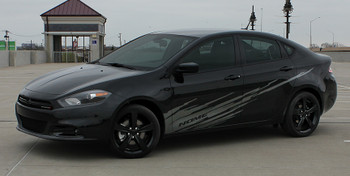 side view of Dodge Dart Body Graphics RIPPED DART side stripe 3M 2013-2016 FCD Call Us 812-725-1410