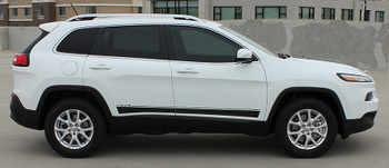 profile view Jeep Cherokee Vinyl Graphics BRAVE side decal stripes 3M | FCD Call Us 812-725-1410