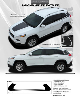 flyer for Jeep Cherokee Body Graphics WARRIOR side stripe 3M 2014-2018 FCD Call Us 812-725-1410