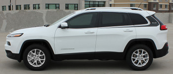 profile view of Jeep Cherokee Body Graphics WARRIOR side stripe 3M 2014-2018 FCD Call Us 812-725-1410