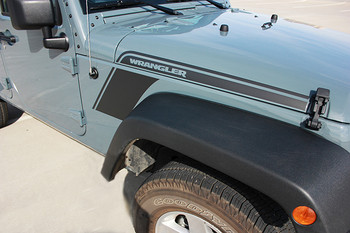 close up RUNDOWN | Jeep Wrangler decals vinyl graphics 3M 2008-2018 | FCD Call 812-725-1410