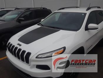 Jeep Cherokee Trailhawk Hood Decal T-HAWK stripe 3M 2013-2018 FCD Call Us 812-725-1410