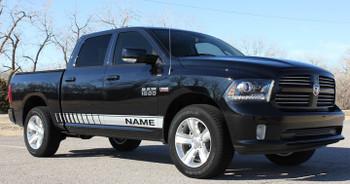 Profile view Dodge Ram 1500 Decal kits RAM ROCKER STROBE 2009-2018 3M | FCD Call Us 812-725-1410