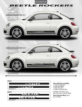 VW Beetle side Stripes ROCKER 2 vinyl graphics 3M 2012-2018 | FCD Call Us 812-725-1410