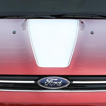 close up hood Ford Escape Hood Vinyl Graphics CAPTURE HOOD stripes 3M 2013-2017 Call Us 812-725-1410