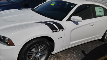 DOUBLE BAR | Dodge Charger Hash Stripes Decals 3M 2011-2018 | FCD