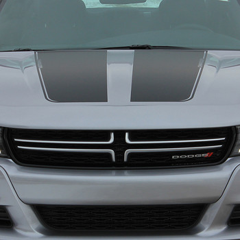 hood view RECHARGE 15 HOOD | Dodge Charger Stripe Design 3M 2015-2018 | FCD Call 812-725-1410