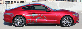 profile of Mustang Side Stripes Decals 3M STEED 2015-2018 | FastCarDecals Call Us 812-725-1410