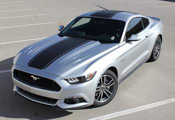 top angle view Ford Mustang Center Stripes MEDIAN GT graphics 3M 2015-2017 | FCD Call Us 812-725-1410