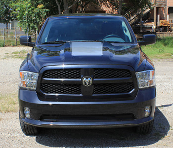Full front Ram Racing Stripes Dodge RAM RAGE HOOD stripes 3M 2009-2018 | FCD Call Us 812-725-1410