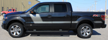 profile of 2014 Ford F-150 graphics FORCE 2 side stripes 3M | Fastcardecals Call Us 812-725-1410