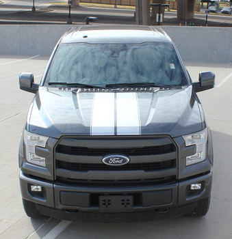 front Ford F-150 Racing Stripes 3M F RALLY graphics 2015-2018 FCDecals Call Us 812-725-1410