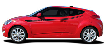 side of Hyundai Veloster Stripe Decals RUSH side vinyl graphics 3M | FCD Call Us 812-725-1410