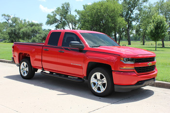 side view Chevy Silverado Stripe Kit ACCELERATOR upper decals 2014-2018 FCD Call Us 812-725-1410