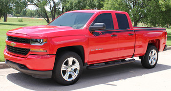 front angle view Chevy Silverado Graphic kit BREAKER side stripe 3M 2014-2018 FCD Call Us 812-725-1410