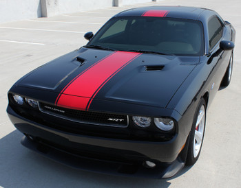 front FINISH LINE | Dodge Challenger RT Decals Stripe 3M 2011-2018 | FCD Call 812-725-1410