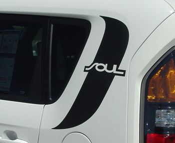 close up Kia Soul Racing Stripes SOULPATCH 2010-2011 3M | FastCarDecals Call Us 812-725-1410