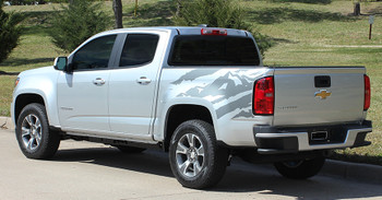 side view of GMC Canyon Vinyl Graphics ANTERO kits 2015-2018 | FastCarDecals Call Us 812-725-1410