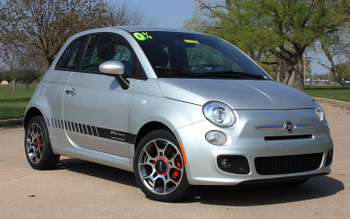 front 500 STROBE ROCKER | Fiat 500 Abarth Side Stripes Decals 3M | FCD Call 812-725-1410