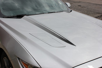 close hood FADED HOOD SPEARS | Ford Mustang Hood Decals 2015-2017 | FCD Call 812-725-1410
