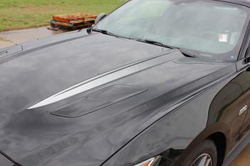 side FADED HOOD SPEARS | Ford Mustang Hood Decals 2015-2017 | FCD Call 812-725-1410