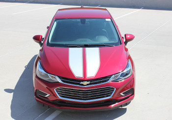 front view red Chevy Cruze Rally kit stripe 2016-2018 DRIFT RALLY   FastCarDecals