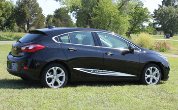 side view Chevy Cruze vinyl decals IMPEL ROCKER panel stripes 2016-2018 FCD Call Us 812-725-1410