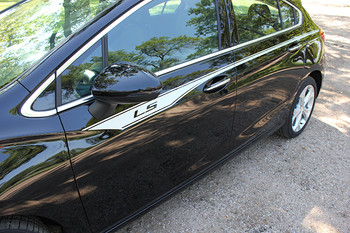 driver side Chevy Cruze decals graphics OVERPASS side stripes 2016-2018   FCD Call Us 812-725-1410
