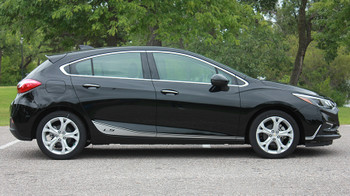 profile of Chevy Cruze sides graphics SPAN ROCKER stripes 2016 2017 2018 FCD Call Us 812-725-1410