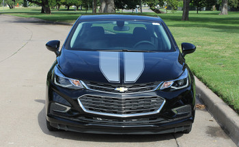 front view black Chevrolet Cruze Racing Stripes DRIFT RALLY graphics 3M 2016-2018 Call Us 812-725-1410