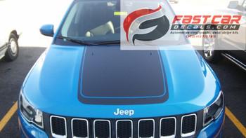 Jeep Compass Hood decal BEARING HOOD stripes 2017-2018 | FCD Call Us 812-725-1410