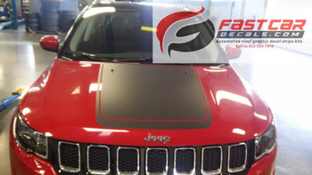 Jeep Compass Hood stripe BEARING HOOD graphic 3M 2017-2018 | FCD Call Us 812-725-1410