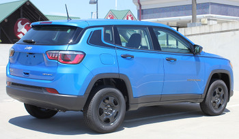 Rear side 2017 Jeep Compass Stripe ALTITUDE side vinyl graphics 3M | FCD Call Us 812-725-1410