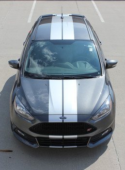 Ford Focus ST Rally Stripes TARGET FOCUS RALLY SE 2015-2018 | FCD Call Us 812-725-1410