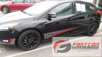 Ford Focus ST Side Decals BLADE two color graphics 2015-2018 FCD Call Us 812-725-1410