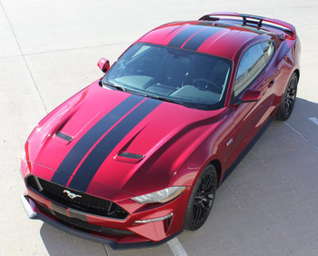 STAGE RALLY | 2018 Ford Mustang Racing Stripes Graphics 3M | FCD Call Us 812-725-1410