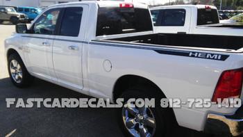 Dodge Ram Truck Graphics HUSTLE side & hood stripes 2009-2018 FCD Call 812-725-1410