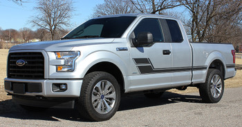 front ELIMINATOR | Matte Black Ford F-150 Truck Decals 3M 2015-2018 FCD Call Us 812-725-1410
