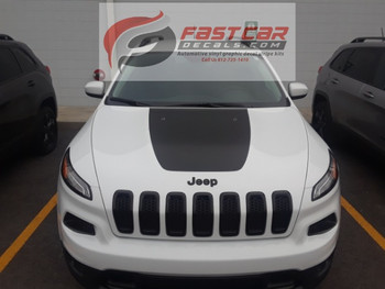T-HAWK | Jeep Cherokee Hood Decal Matte Black 3M 2013-2018 | FCD Call Us 812-725-1410