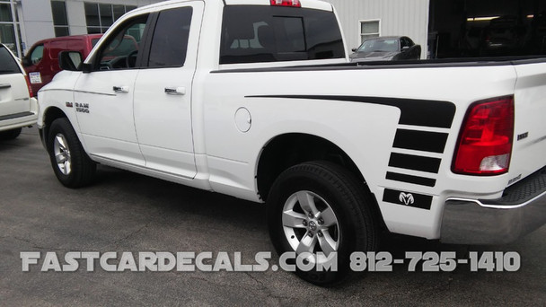 TOP POWER Dodge Ram Bed Side Decals Graphics - Truck decals and graphics