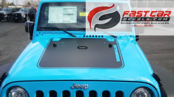 OUTFITTER HOOD   Jeep Wrangler hood stripe graphic 2008-2017 FCD Call 812-725-1410