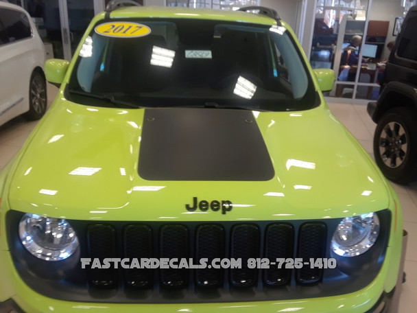 Jeep Renegade Hood Stripes Trailhawk style graphics 2014-2019 FCD Call Us 812-725-1410