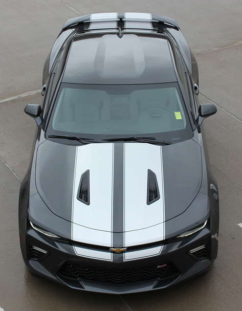 high front Chevy Camaro Racing Stripes with Outlines CAM SPORT PIN 16-2018