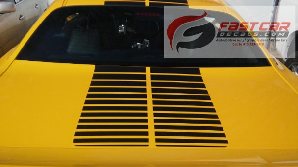 Dodge Challenger Decal Graphics PULSE RALLY strobe stripes 3M FCD Call Us 812-725-1410