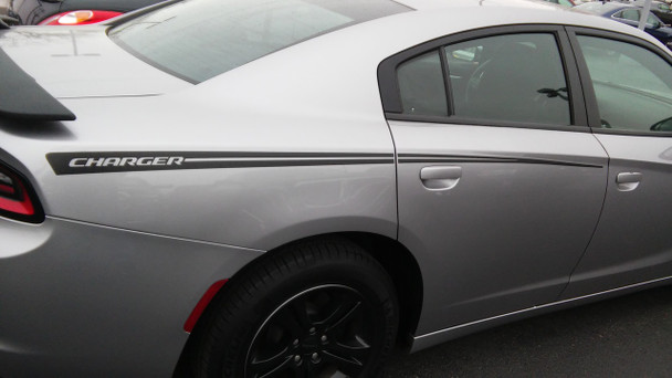 RIVE | Dodge Charger Side Stripes Hood Decals 3M 2015-2018 | FCD Call 812-725-1410