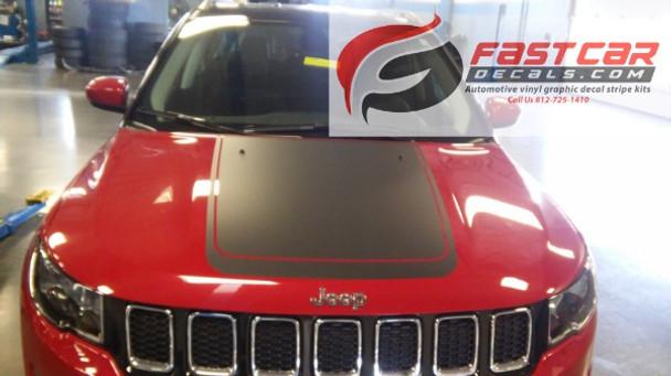 Jeep Compass Hood Stripe BEARING HOOD 3M 2017 2018 2019   FCD Call Us 812-725-1410