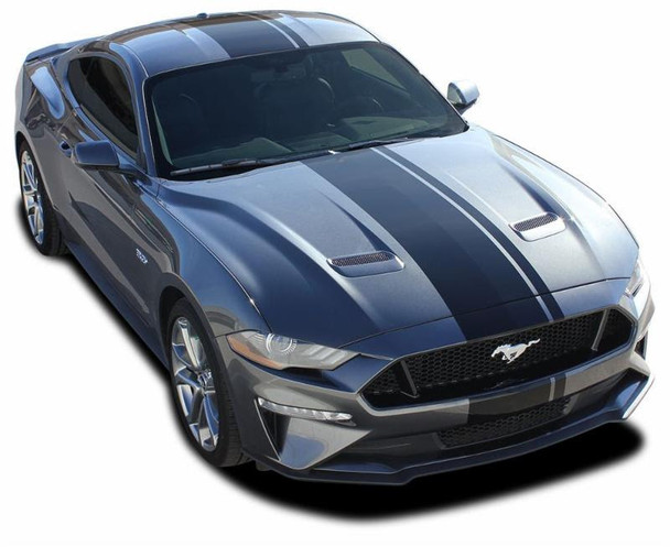 EURO RALLY | 2018 Ford Mustang Racing Center Stripe Decals | FCD Call 812-725-1410