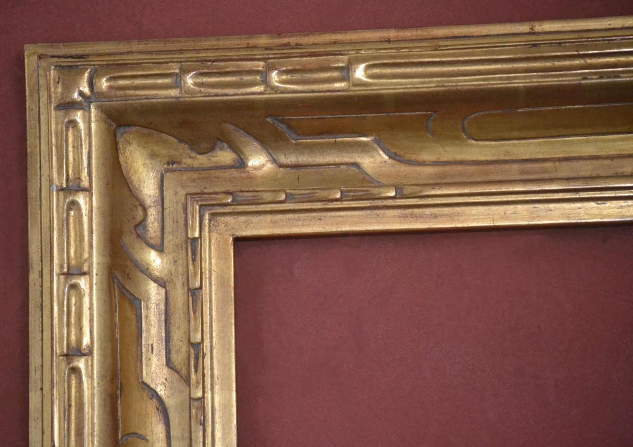 Custom Hand Carved Picture Frame, Plein Air, 22 Karat Gold Leaf, 4 5 ...