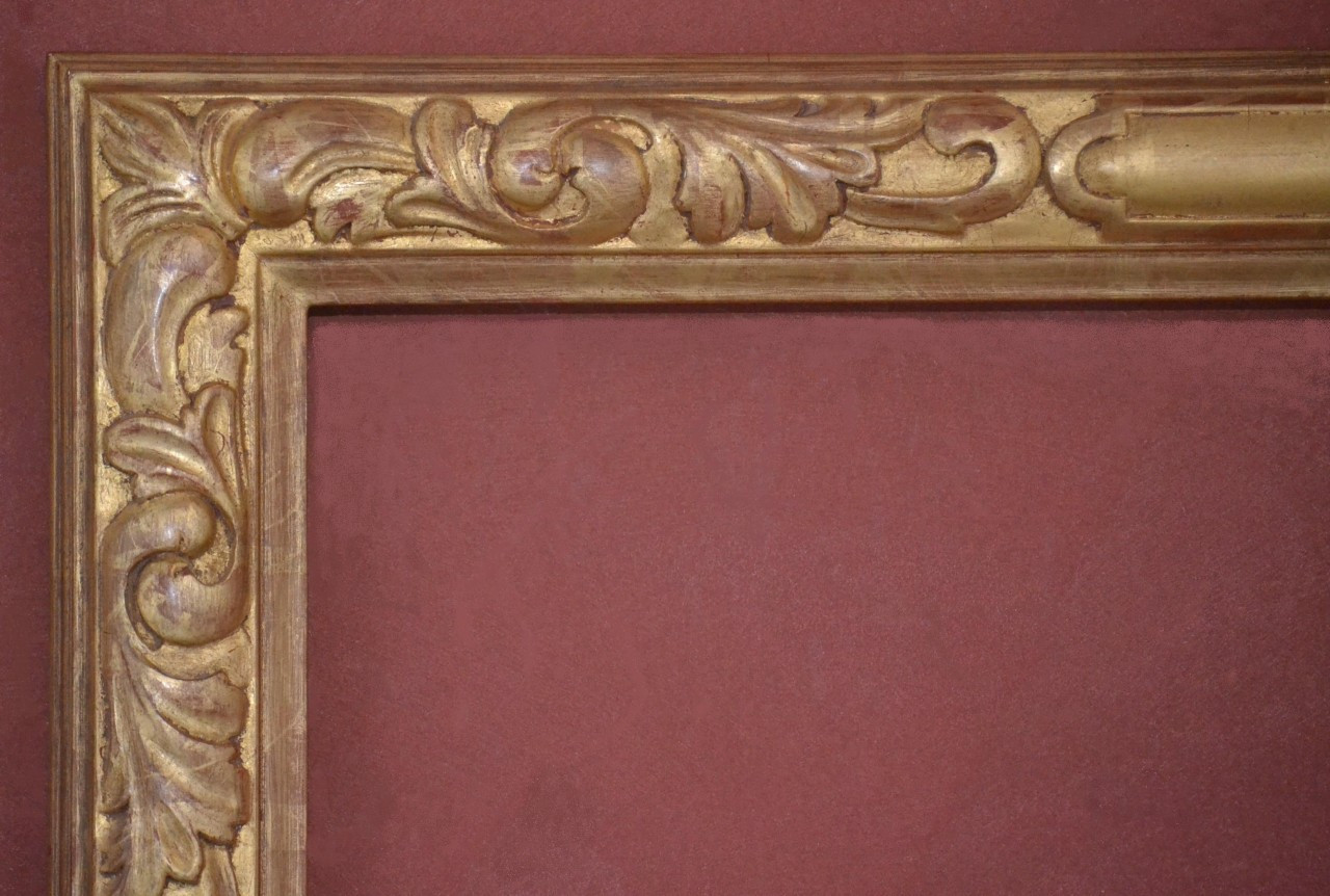Hand Carved, Plein Air frame, 22 Karat Gold Leaf - C - 9357