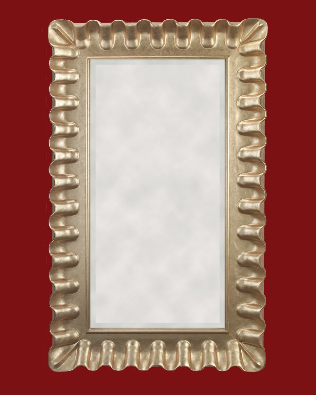 Hand Carved Frame Gold Metal leaf, art size is 24 x 48 inch